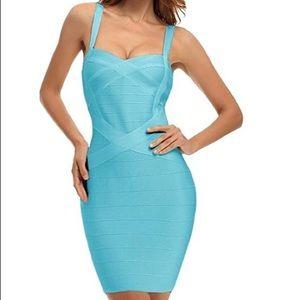 NEW! Light Blue Bandage Dress - Small